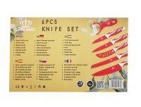 Royal Swiss® 6PCS Messer-Set rot