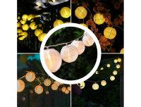 Decolux® LED-Sommerlichterkette Lampion weiß