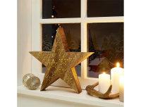 Decolux® LED Holzdekoration Stern braun