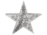 Decolux® LED Holzdekoration Stern grau