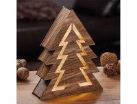 Decolux® LED Holzdekoration Baum braun