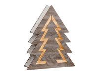 Decolux® LED Holzdekoration Baum grau