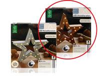 Decolux® LED Holzdekoration Stern hohl braun